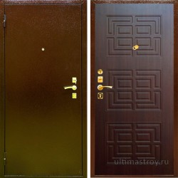 Металлические двери Doro 2 с броненакладкой 950x2050 мм
