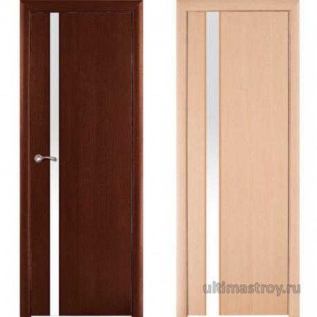 Межкомнатная дверь ПВХ Вимона остекленная 900 x 2000 мм