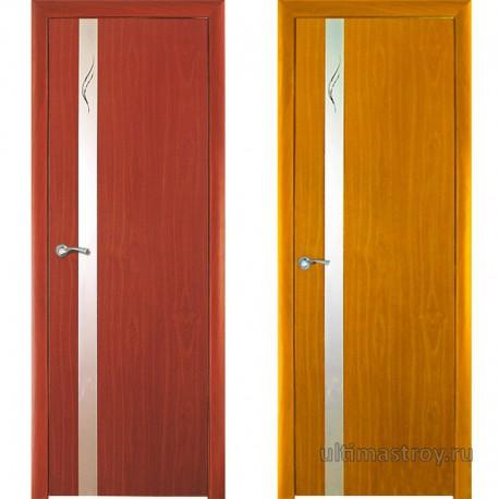 Межкомнатная дверь ПВХ Винетта остекленная 600,700,800 x 2000 мм