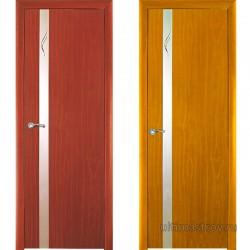 Межкомнатная дверь ПВХ Винетта остекленная 900 x 2000 мм