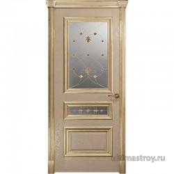 Межкомнатные двери Джувара-2-2 Слоновая кость с патиной ДО 550÷800 x 2000 мм