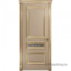 Межкомнатные двери Джувара-2-3 Слоновая кость с патиной ДО 900 x 2000 мм
