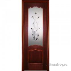 Межкомнатные двери фрезерованные Диана Махагон ДО 600,700,800,900 х 2000 мм