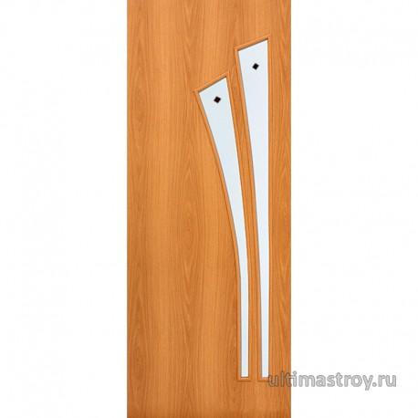 Межкомнатные двери ламинированные Ветка остекленные с фьюзингом