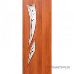 Межкомнатные двери ламинированные Стрелец остекленные с фьюзингом