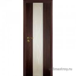 Межкомнатные двери ламинированные Силуэт с зеркалом