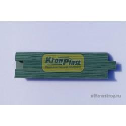 Плинтус ПВХ Кронпласт 215 Зеленый