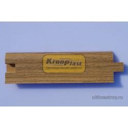 Плинтус ПВХ Кронпласт 532 Орех песочный